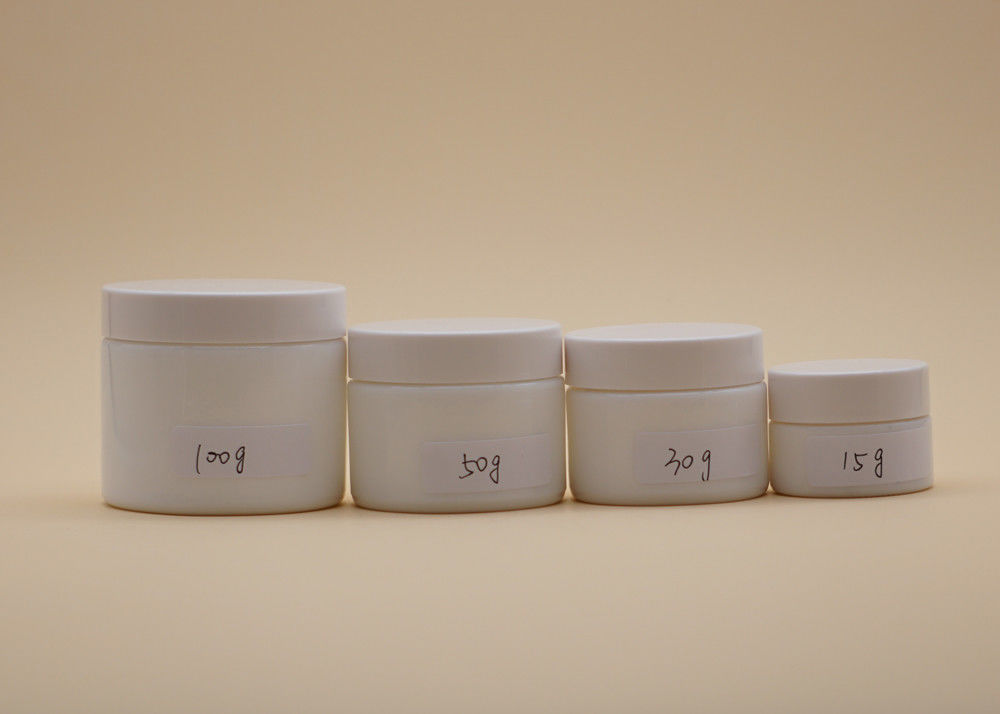 Different Volume Cosmetic Cream Containers , White Cream Jar High Performance
