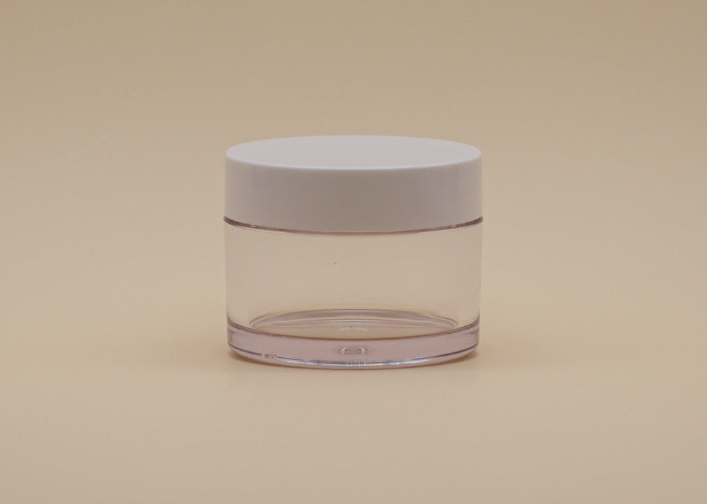30ml Cylindric Round Opal Cosmetic Cream Containers White PETG Clear Body With Lid